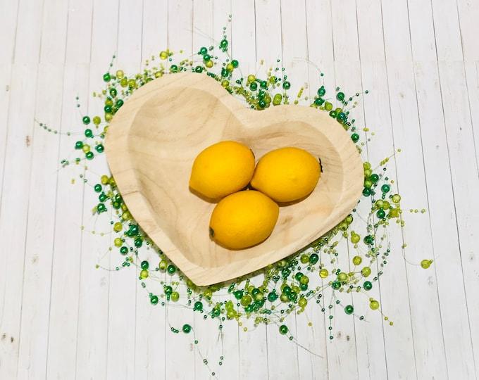 Paulownia Wood Heart Bowl