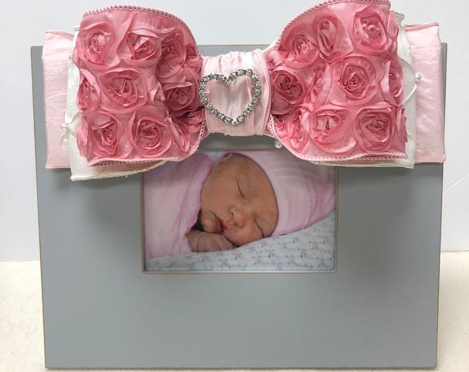 Diamond Pearl Pink Rose Frame