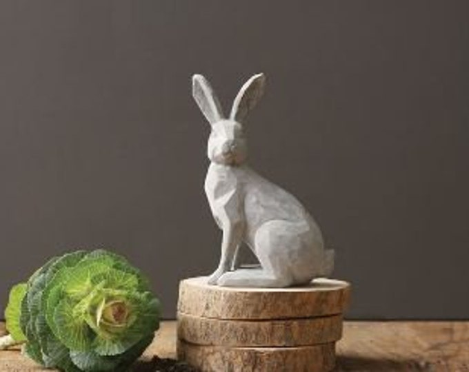 Cement Rabbit Figurine