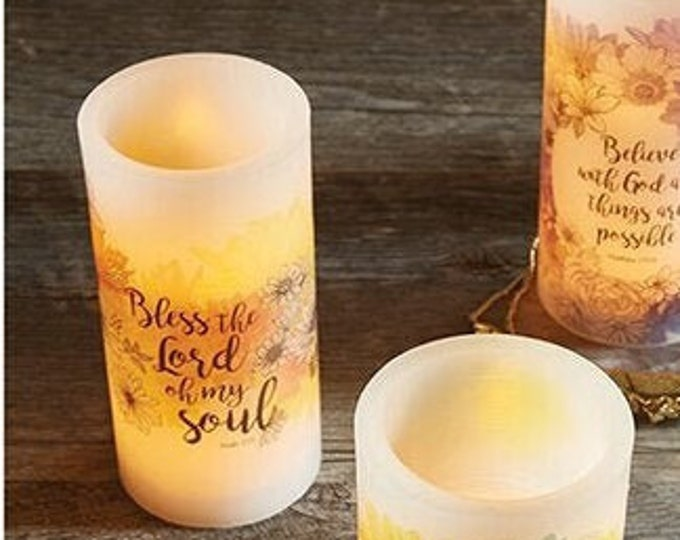 Bless The Lord LED Candle, Home Decor, House Warming Gift, Flameless LED Candle