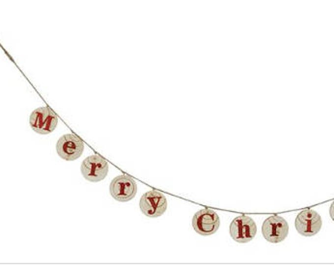 "Wood ""Merry Christmas"" Garland"