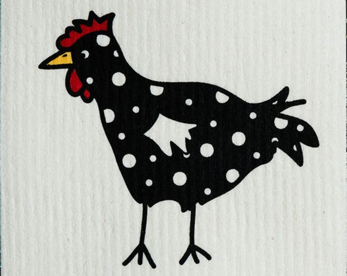 Spotted Black Chicken Swedish Cloth