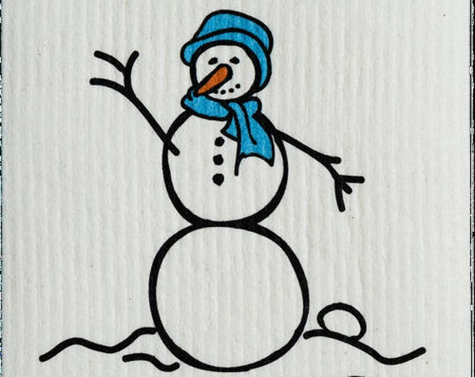 Snowman Blue Swedish Cloth
