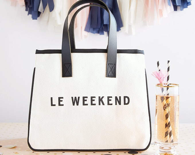 CANVAS TOTE - WEEKEND