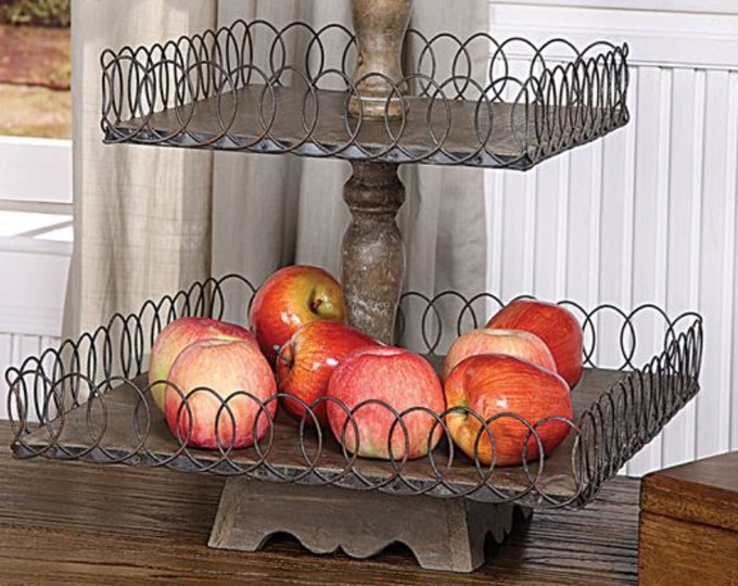 Decorative 3-Tier Tray