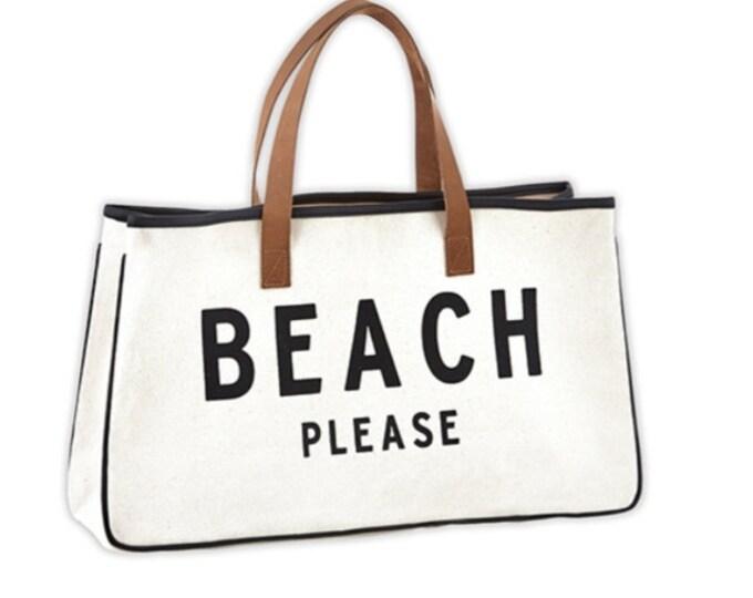Canvas Tote-Beach Please