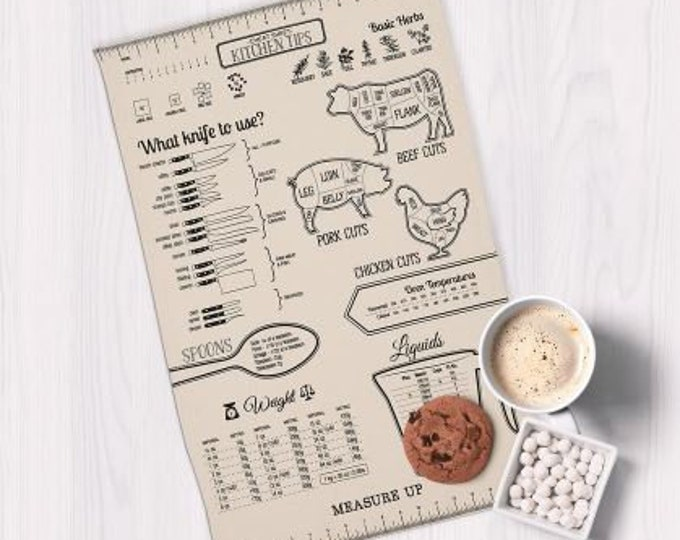 Measure Up Printed Dishtowel