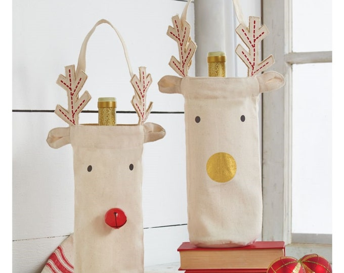 Reindeer Christmas Wine Bag