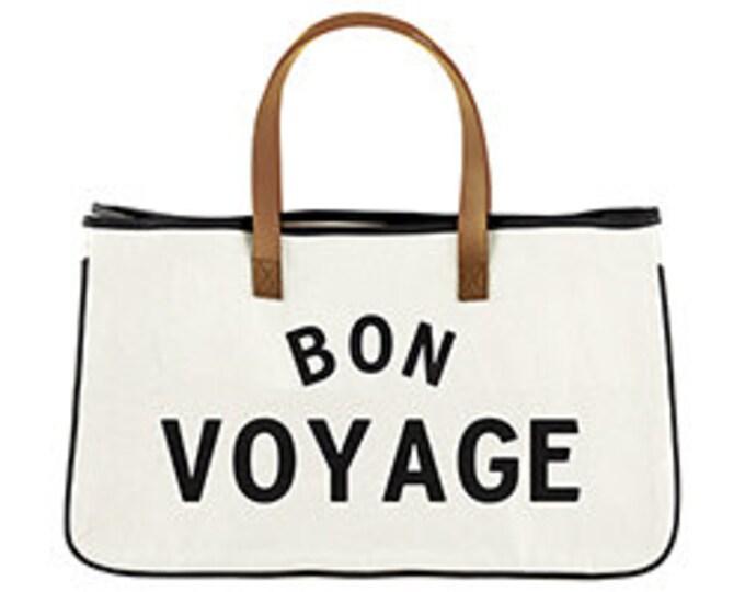 Bon Voyage canvas tote