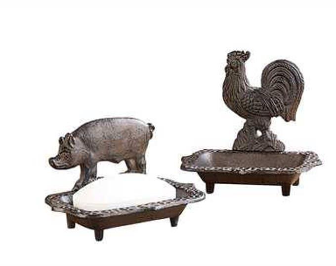 Farm Animal Cast Iron Soap Dish