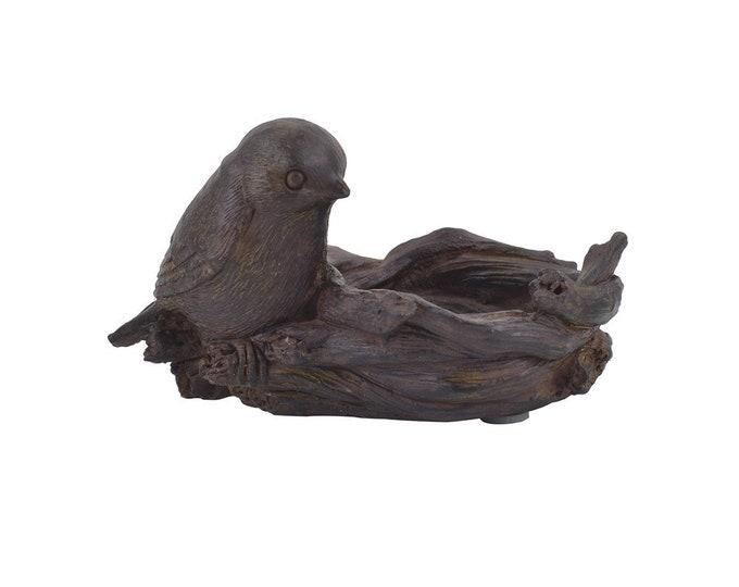 Resin Bird Nest Tealight Holder
