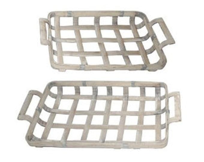 Woven Wooden Baskets