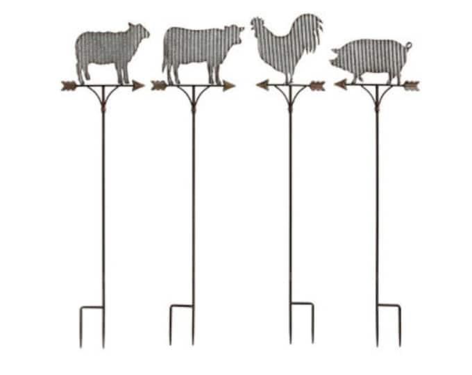 Farm Animal Garden Stakes