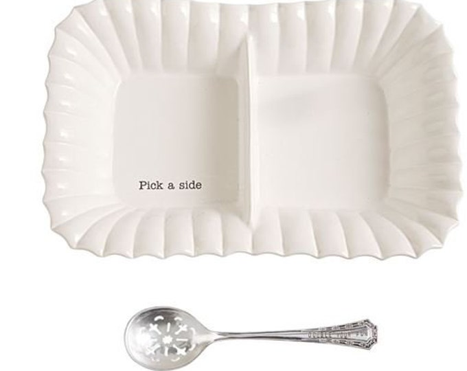 Large Divided Side Dish Set