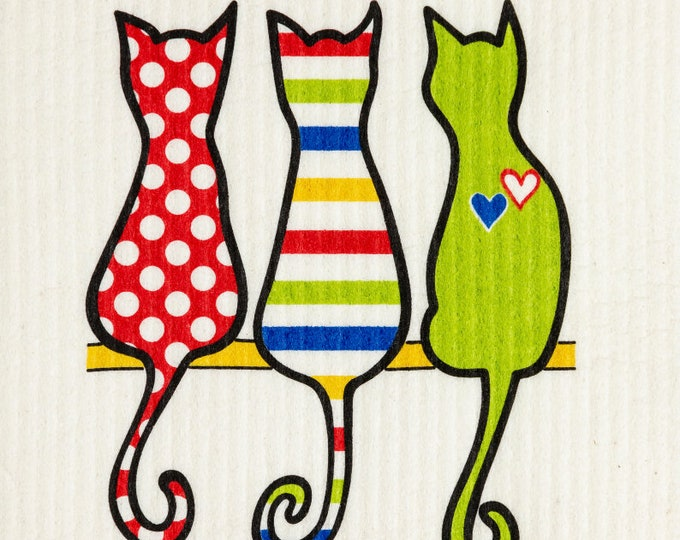 Cat Multi Color Swedish Cloth
