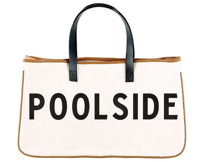 Canvas Tote- Pool Side