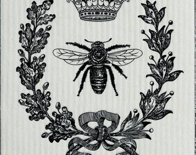 French Bee Black Swedish Cloth