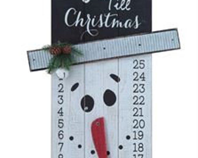 Wooden Snowman Advent
