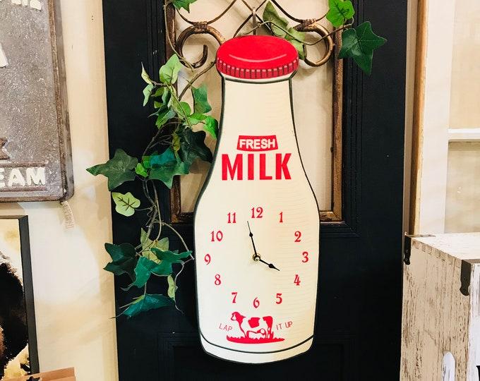 Milk Bottle Wall Clock