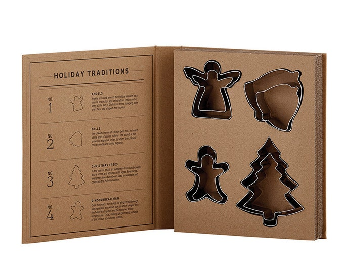 Cardboard Book Set - Holiday Cookie Cutter