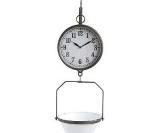 Decorative Metal Scale Clock