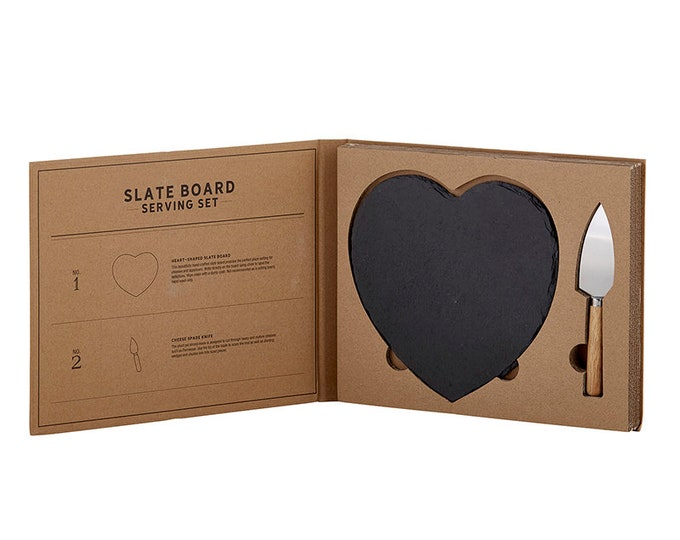 Cardboard Book Set - Slate Serving Board