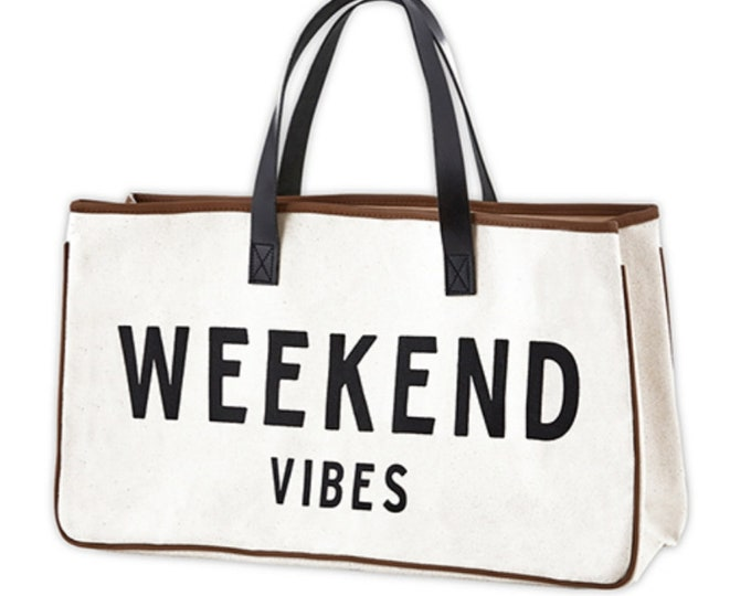 Canvas Tote-Weekend Vibes