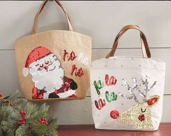 Christmas Sentiment Dazzle Totes