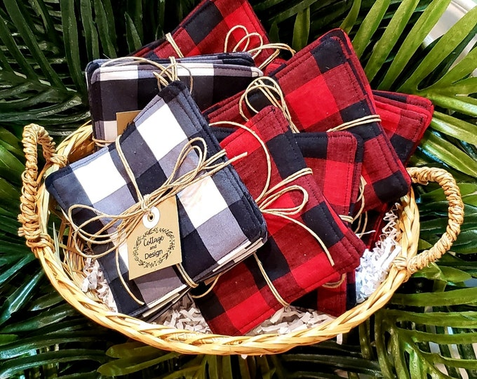 Buffalo Check Cloth Coasters