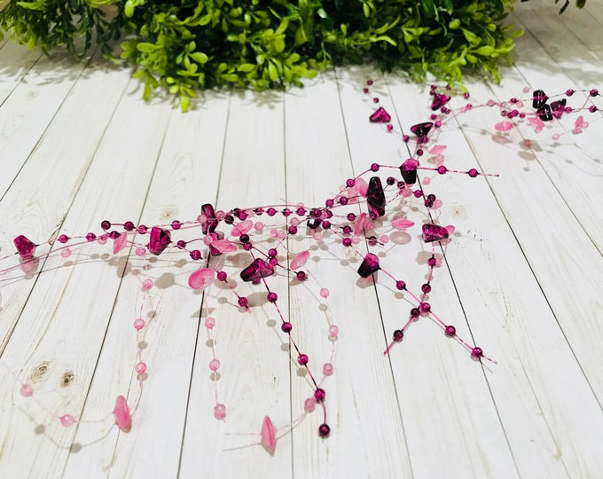 5' Bead Garland-Purple & Pink