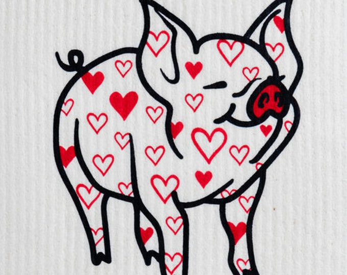 Lovely Pig Swedish Cloth