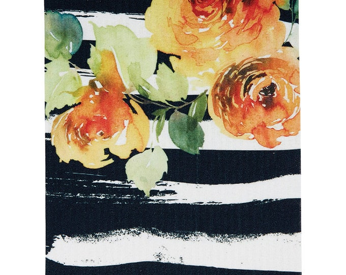 Orange and Peach Floral Swedish Cloth