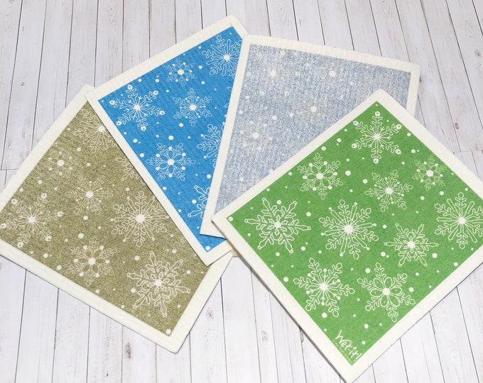 Snowflakes Swedish Cloth
