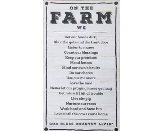 """Wall Decor """"On the Farm"""""""