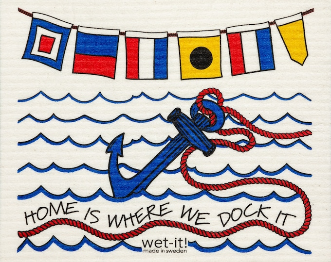 Home is Where The Dock is Swedish Cloth