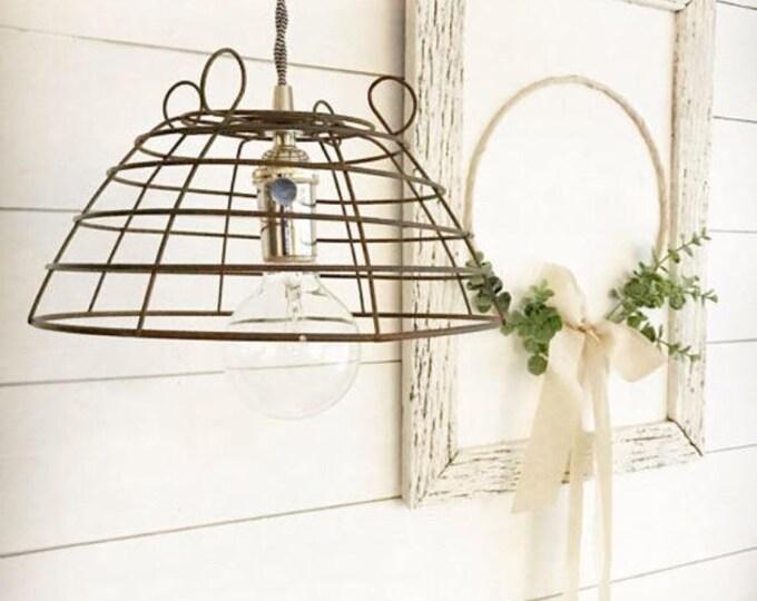Vintage Wire Basket Light