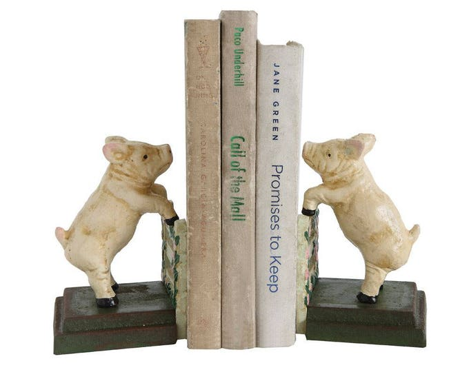 Vintage Reproduction Pig Bookends