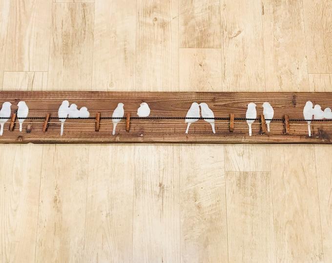 Wooden Bird Memo Holder w/ Clothespins