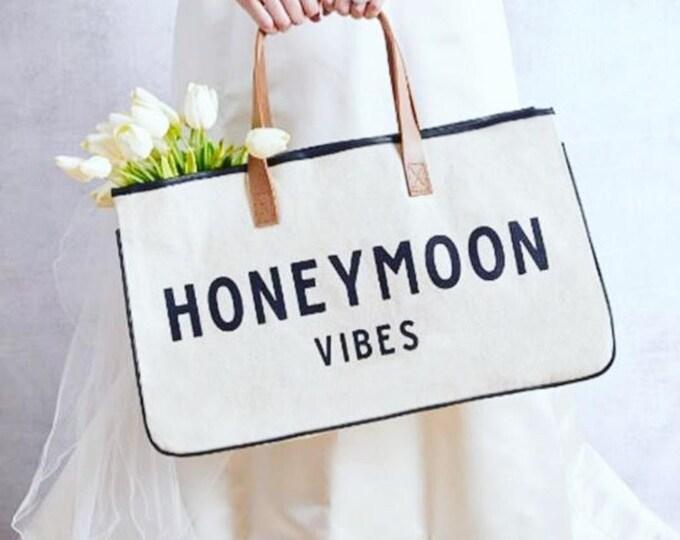 Honeymoon Vibes canvas Tote