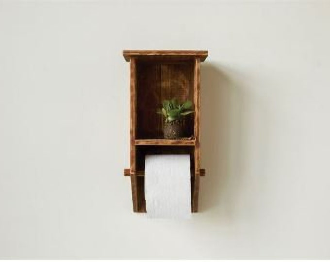 Toilet Paper Holder & Wall Shelf