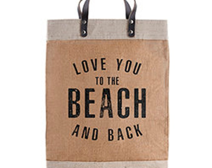 Love you to the beach and back market tote