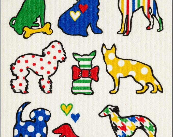 Dog Multi Color Swedish Cloth