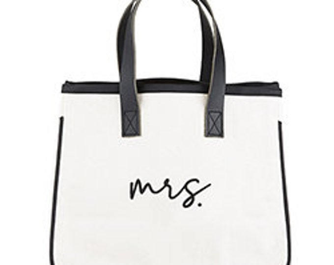 Mrs. Canvas tote, bridal party, bridal shower, wedding gifts