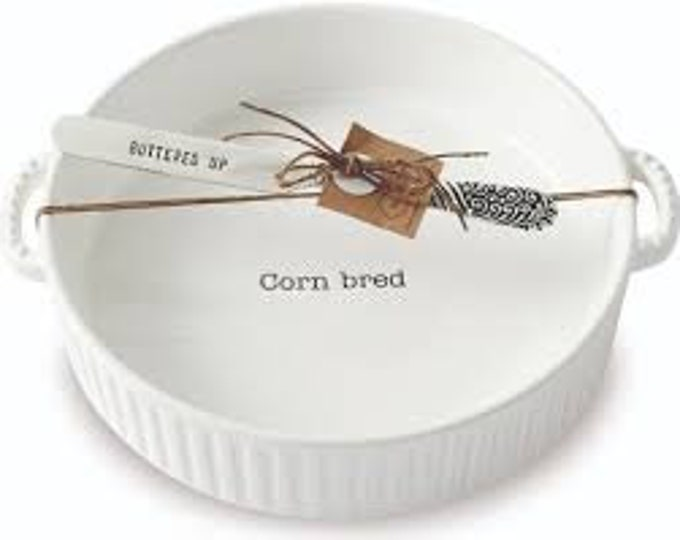 "Corn ""Bred"" Serving Dish"