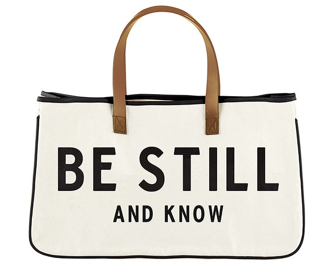Canvas Tote - Be Still and Know