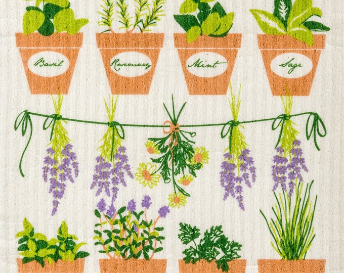 Fresh Herbs Swedish Cloth