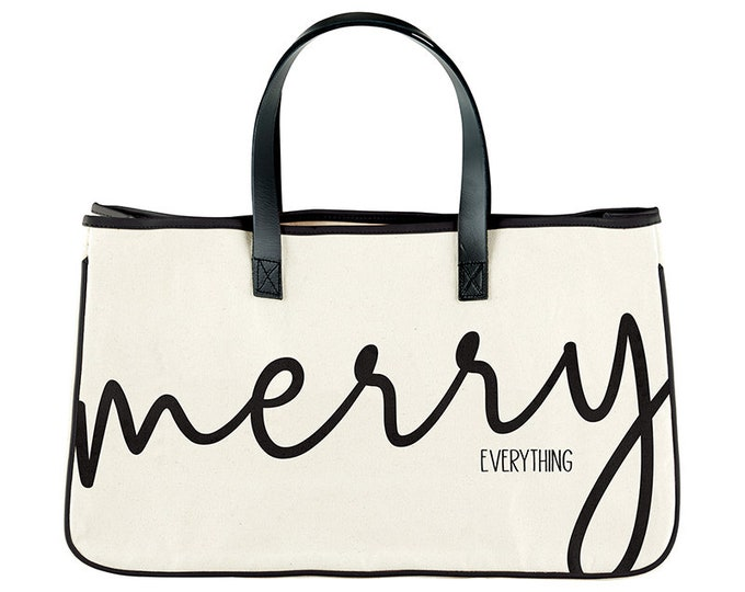 Canvas Tote- Merry Everything