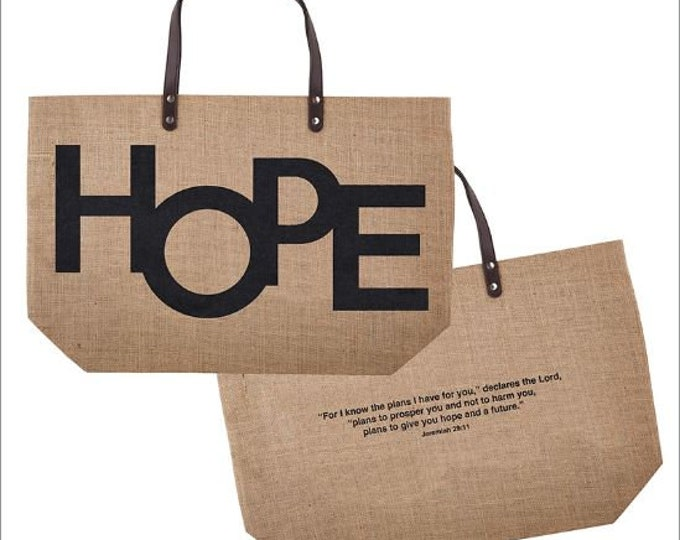 HOPE -Jeremiah 29:11 Jute Tote Bag
