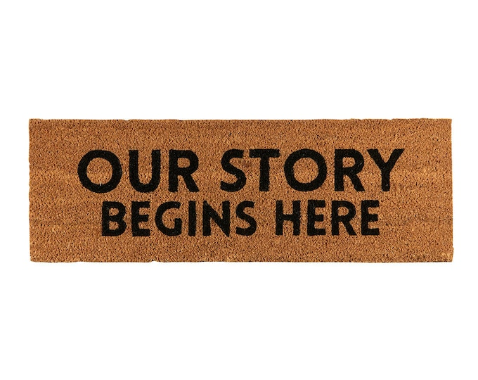 Our story begins here-doormat
