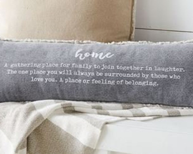 Canvas Home Pillow